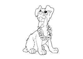 tramp puppy coloring