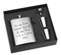 gravur sprüche uhr premium flachmann mit gravur als geschenkset gravurzeile de