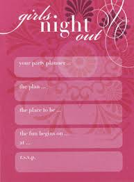 Blank Invitations Girls Night Out Blank Invitations Pack Of 25 Invitations