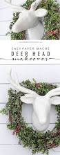 easy paper mache deer head makeover paper mache deer head paper