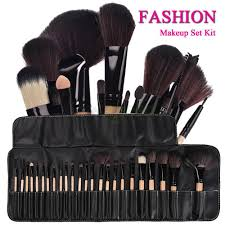 pro 24pcs superior soft cosmetic makeup brush set brushes kit
