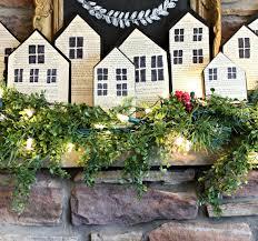 christmas wood block houses a purdy little house