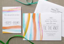 watercolor wedding invitations from day press
