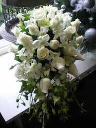 Wedding Flowers Queenstown White Cascading Bouquet Lilys And Orchids Wedding Flowers