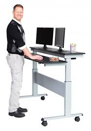 two tier electric stand up desk 60 inch stand up desk store