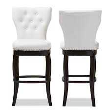 Pier One Bistro Table And Chairs White Tufted Leather Bar Stool Baxton Studio Leonice Modern And