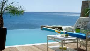hotel piscine dans la chambre family suite sea avec piscine privée et vue sur mer