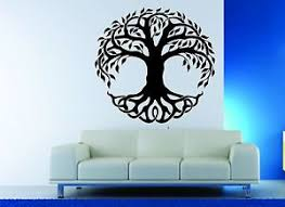 wall decor vinyl sticker decal celtic tree tribal nature