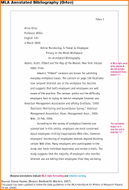7 annotated bibliography mla format letterhead template sample