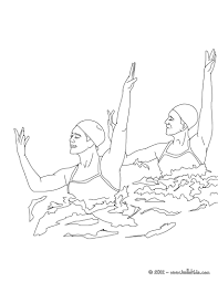 team technical routine synchronized swimming coloring pages