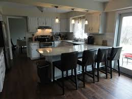 Modern Kitchen Island Table Kitchen Room Wooden Oak Floor L Shaped Kitchen Island With