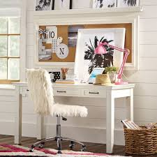 Pottery Barn White Desk With Hutch Classic Frame Corkboard Pbteen