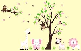 Jungle Wall Decals Nursery Wall Decals Jungle Animals Color The Walls Of Your House