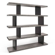 step high concrete modern bookcase eurway furniture