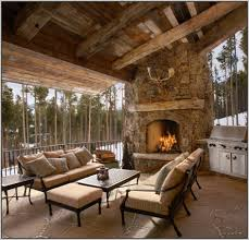outdoor covered patio with fireplace ideas patios home design
