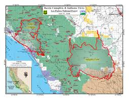 Wildfire Map Update On Central California Fires