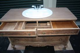 vintage dresser converted into bathroom vanity other metro by