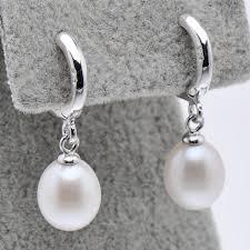 pearl hoop earrings feige brand pearls 925 sterling silver hoop earrings for women 8