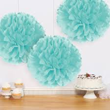 robin s egg blue fluffy tissue decorations 3