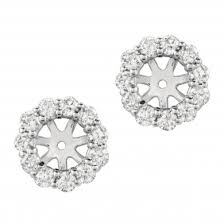 diamond earring jackets the most beautiful halo diamond earring jackets for your diamond studs