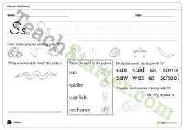 alphabet phonics worksheets resource collection u2013 teach starter