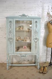 shabby chic china cabinet reserve suzzane painted cottage chic shabby aqua romantic french