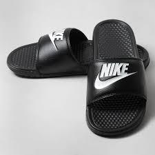 nike benassi jdi flip flops black white portugal spain