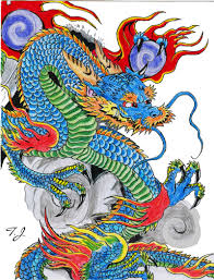 chinese dragon drawings in color gallery clip art library