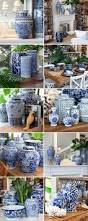 White Ceramic Kitchen Canisters Blue And White Vases And Jars Decoration