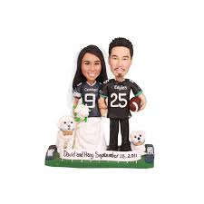 football wedding cake toppers unique and groom dallas cowboys football wedding cake