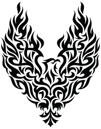 tribal eagle tattoo one isolated stock photo by nobacks com
