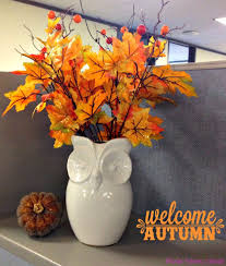 just a little cubicle decor fall autumn
