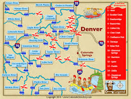 colorado river map colorado whitewater rafting kayaking river map co vacation