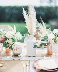 Coral Wedding Centerpiece Ideas by Metallic Bohemian Wedding Ideas In Coral And Copper Hey Wedding Lady