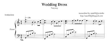 wedding dress piano sheet sheet piano wedding dress