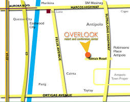 antipolo map location map overlook resort and conference center