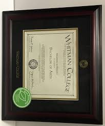college diploma frames diploma frame whitman college bookstore