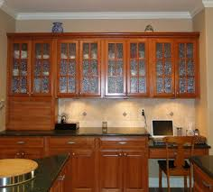kitchen glass cabinet doors style casual oven closed wooden