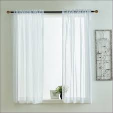 Sheer Curtains Grommet Top Furniture Magnificent 63 Inch White Sheer Curtains Black And