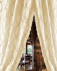 Trellis Curtain Panel Buy White Trellis Faux Silk Living Room Lined Window Curtain Panel