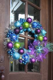 peacock christmas ornament tinsel wreath by cellajanecreations