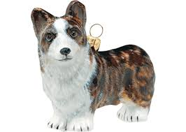 cardigan corgi brindle glass ornament by to the