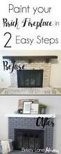 best fireplace update ideas pinterest brick paint your brick fireplace easy steps update fireplacegrey fireplacefireplace makeoversbrick fireplacespainting