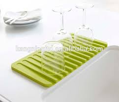 Kitchen Sink Drainer Mat Kitchen Sink Silicone Drying Glass Drainer Mat Dish Drainer Mat