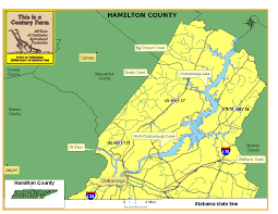 Map Tennessee Hamilton County Tennessee Century Farms