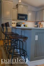 kitchen cabinets in old monterey gray painted by kayla payne