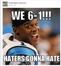 Facebook Meme - there s this weird 6 1 meme on the panthers facebook page and we
