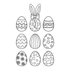 25 free printable easter egg coloring pages