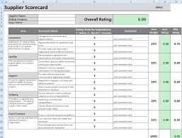 Supplier Scorecard Template Excel Procurement Templates Tools