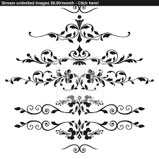 set of floral ornaments vector yayimages